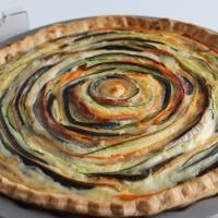 Tarta de vegetales en espiral