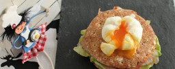 Como hacer huevos escalfados o poché en papel film